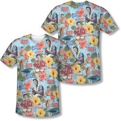 Elvis Presley - Mens Surf'S Up (Front/Back Print) T-Shirt