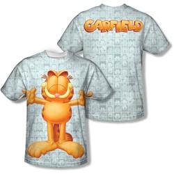 Garfield - Mens Free Hugs (Front/Back Print) T-Shirt