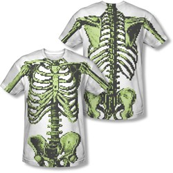 8 Bit Skeleton - Mens Back Print) T-Shirt