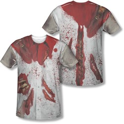 Ripped Zombie - Mens Back Print) T-Shirt