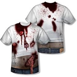 Zombie Slob - Mens Back Print) T-Shirt