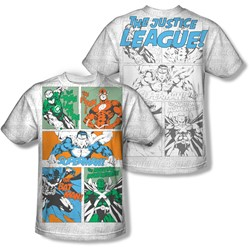 Justice League, The - Mens Justice Panels (Front/Back Print) T-Shirt