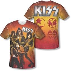 Kiss - Mens Fire Pose (Front/Back Print) T-Shirt