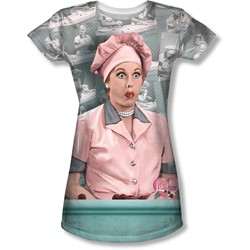 I Love Lucy - Juniors Chocolate Belt T-Shirt