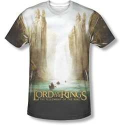 Lord Of The Rings - Mens Fellowship Poster T-Shirt