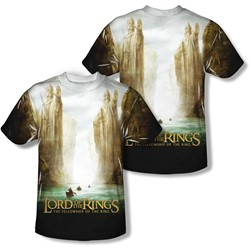 Lord Of The Rings - Mens Fellowship Poster (Front/Back Print) T-Shirt