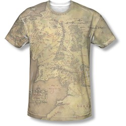 Lord Of The Rings - Mens Middle Earth Map T-Shirt