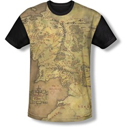 Lord Of The Rings - Youth Middle Earth Map T-Shirt