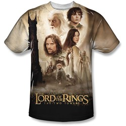 Lord Of The Rings - Mens Towers Poster T-Shirt