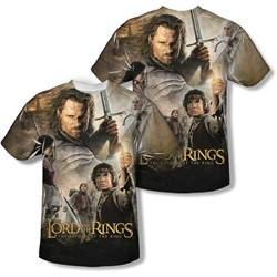 Lord Of The Rings - Mens King Poster (Front/Back Print) T-Shirt
