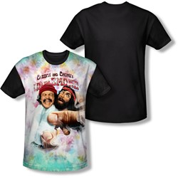 Cheech & Chong - Mens Fried Tie Dyed T-Shirt