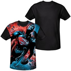Superman - Mens Red Sun T-Shirt
