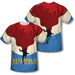 Superman - Mens Home (Front/Back Print) T-Shirt