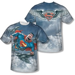 Superman - Mens In Formation (Front/Back Print) T-Shirt