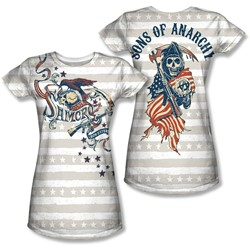 Sons Of Anarchy - Juniors Crow And Stars (Front/Back Print) T-Shirt