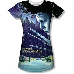 Edward Scissorhands - Juniors Home Poster T-Shirt