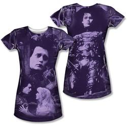 Edward Scissorhands - Juniors Story (Front/Back Print) T-Shirt