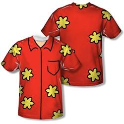 Family Guy - Mens Quagmire Costume (Front/Back Print) T-Shirt