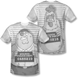 Family Guy - Mens Mug Shot (Front/Back Print) T-Shirt