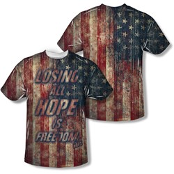 Fight Club - Mens Losing Hope (Front/Back Print) T-Shirt