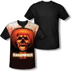 Halloween Ii - Mens Pumpkin Skull T-Shirt