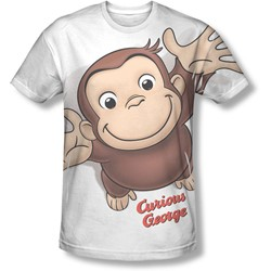 Curious George - Mens Hands In The Air T-Shirt