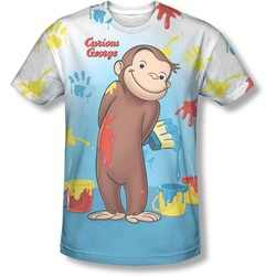 Curious George - Mens Paint All Over T-Shirt