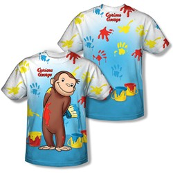 Curious George - Youth Paint All Over (Front/Back Print) T-Shirt