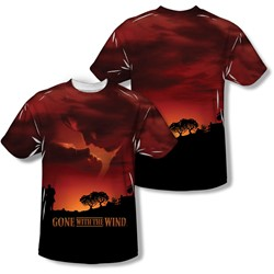 Gone With The Wind - Mens Sunset (Front/Back Print) T-Shirt