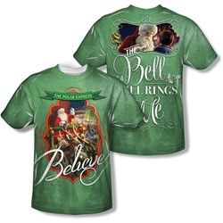 Polar Express - Mens Santa (Front/Back Print) T-Shirt