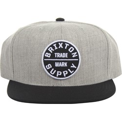 Brixton - Mens Oath Iii Snapback Hat in Heather Grey/Black