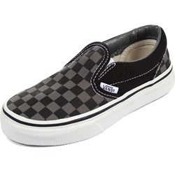 Vans - Kids Classic Slip-On Shoes In Black /Pewter Checkerboard