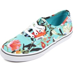 Vans - Kids Authentic Lo Pro Shoes in (Floral) Smoked Pearl/True White