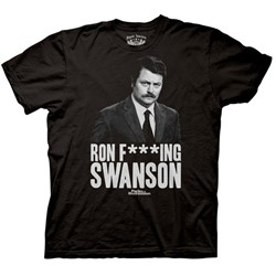 Parks and Recreation - Ron F***ng Swanson Mens T-Shirt in Black