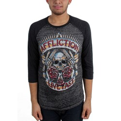 Affliction - Mens Hollow Point Raglan