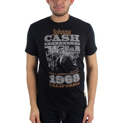Johnny Cash - Mens Newport '64 T-shirt in Navy
