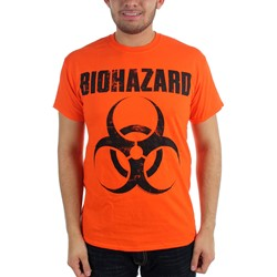 Biohazard - Mens Classic Logo T-shirt in Orange