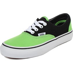 Vans - Youth K Era Shoes In 2 Tone Black/Green Flash