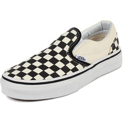 Vans - Kids Classic Slip-On Shoes In Black /White Checkerboard