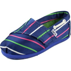 Toms - Tiny Slip-On Blue Stripe Shoes