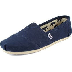 Toms - Mens Classic Canvas Slipon Shoes in Navy
