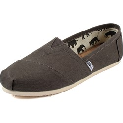 Toms - Womens Classic Canvas Slipon Shoes in Grey