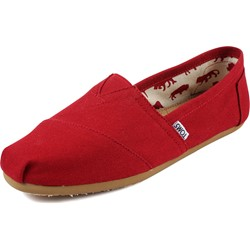 Toms - Mens Classic Canvas Slipon Shoes in Red Canvas