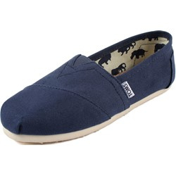 Toms - Womens Classic Canvas Slipon Shoes in Navy Canvas