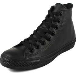 Converse Chuck Taylor All Star Shoes (1T405) Leather Hi Black Monochrome