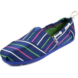 Toms - Youth Slip-On Blue Stripe Bimini Shoes