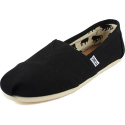 Toms - Mens Classic Canvas Slipon Shoes in Black