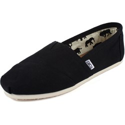 Toms - Womens Classic Canvas Slipon Shoes in Black Canvas