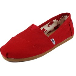 Toms - Womens Classic Canvas Slipon Shoes in Red