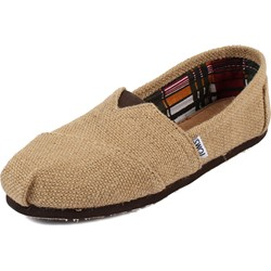 Toms - Womens Classic Woven Burlap Slipon Shoes in Natural